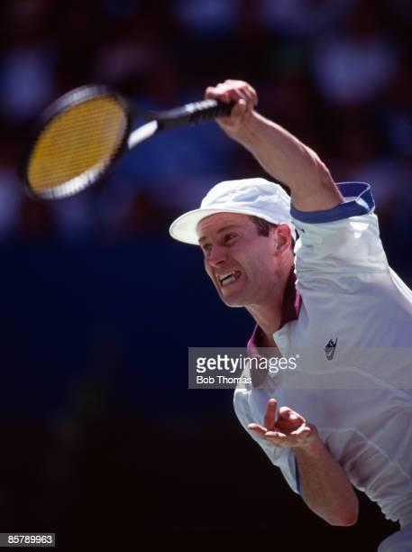 John McEnroe of the USA during the Australian Open Tennis Championships held in Melbourne Australia during January 1992