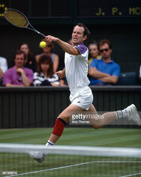 John McEnroe of the USA during the Wimbledon Lawn Tennis Championships held in London England during July 1992