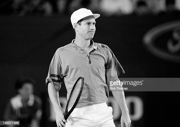 John McEnroe of the USA in action during the Australian Open Tennis Championships at Flinders Park in Melbourne January 1993