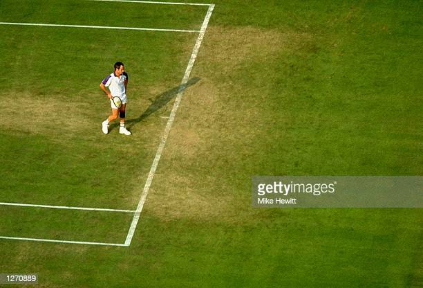 John McEnroe of the USA in action during Wimbledon in London England Mandatory Credit Mike Hewitt /Allsport