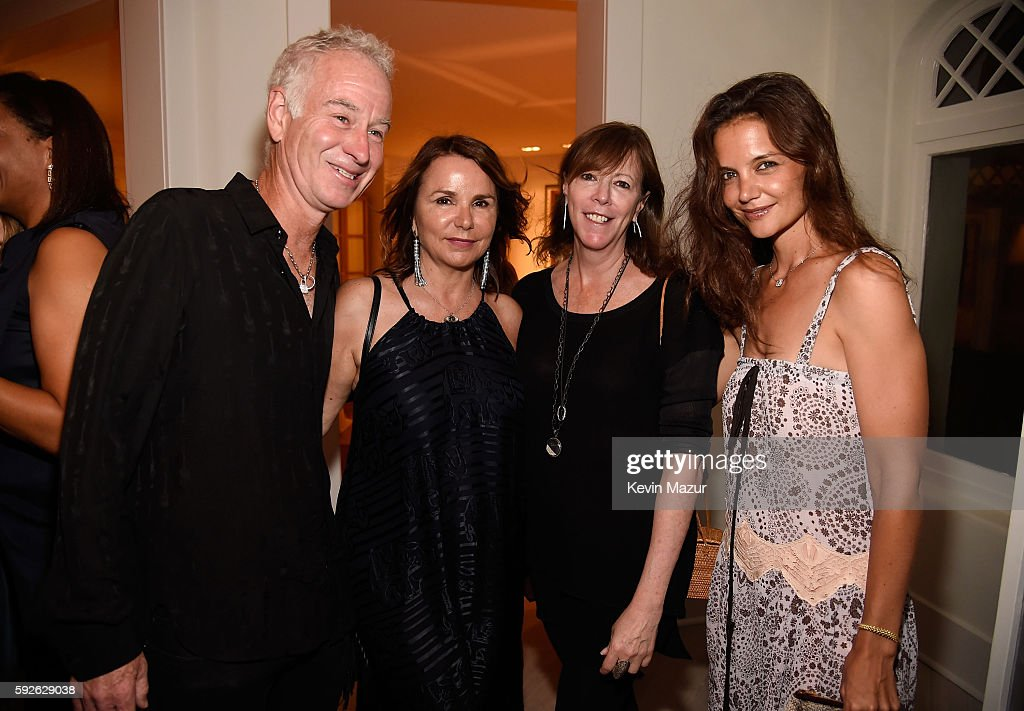 John McEnroe Patty Smyth Jane Rosenthal and Katie Holmes attend Apollo in the Hamptons 2016 at The Creeks on August 20 2016 in East Hampton New York