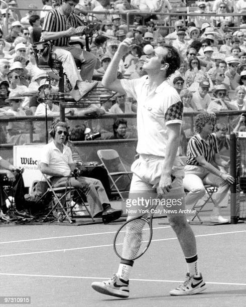 John McEnroe who has a nose for tennis as he showed here will be in today's final