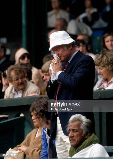 John McEnroe's father JP McEnroe Senior in the crowd during the Wimbledon Lawn Tennis Championships at the All England Lawn Tennis and Croquet Club...
