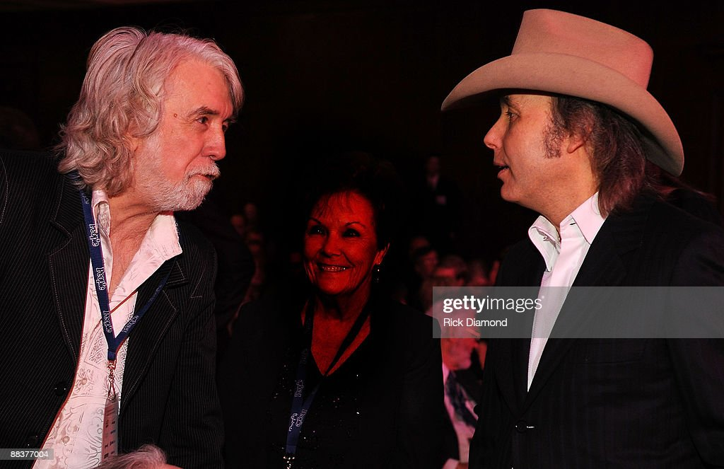 John McEuen of The Nitty Gritty Dirt Band and Dwight Yoakam chat at The 50th Annual Grammy Awards, Special Merit Awards Cermony held at The Wilshire - Ebell Theater in Los Angeles California on February 9, 2008