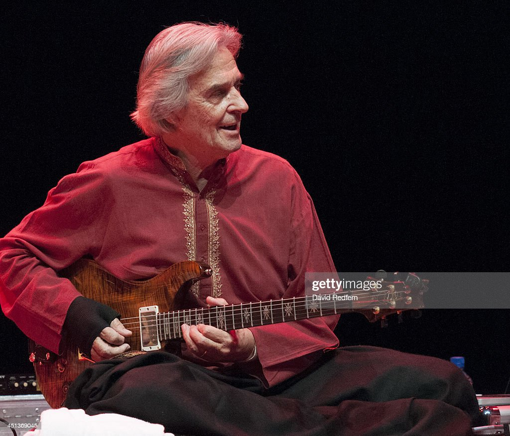 John McLaughlin of Remember Shakti performs on stage during day 7 of London Jazz Festival at the Royal Festival Hall on November 21, 2013 in London, United Kingdom.