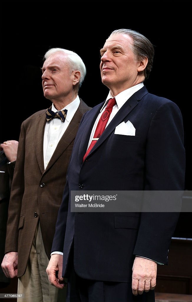John McMartin and Michael McKean during the Broadway opening night performance curtain call for 'All The Way' at The Neil Simon Theatre on March 6, 2014 in New York City.