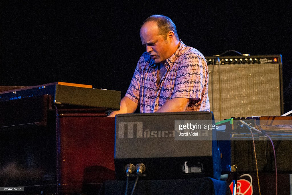 John Medeski of Medeski Scofield Martin and Wood performs on stage during Festival Grec at Teatre Grec on July 8 2007 in Barcelona Spain