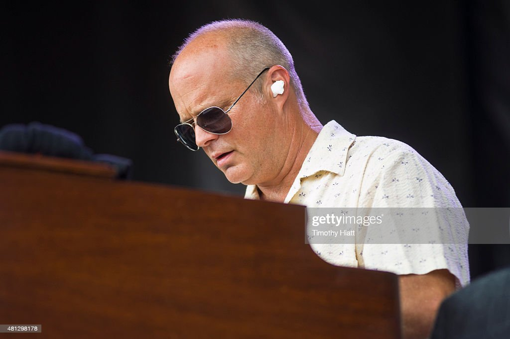 John Medeski of The Word performs at the 2015 Forecastle festival at Waterfront Park on July 18 2015 in Louisville Kentucky