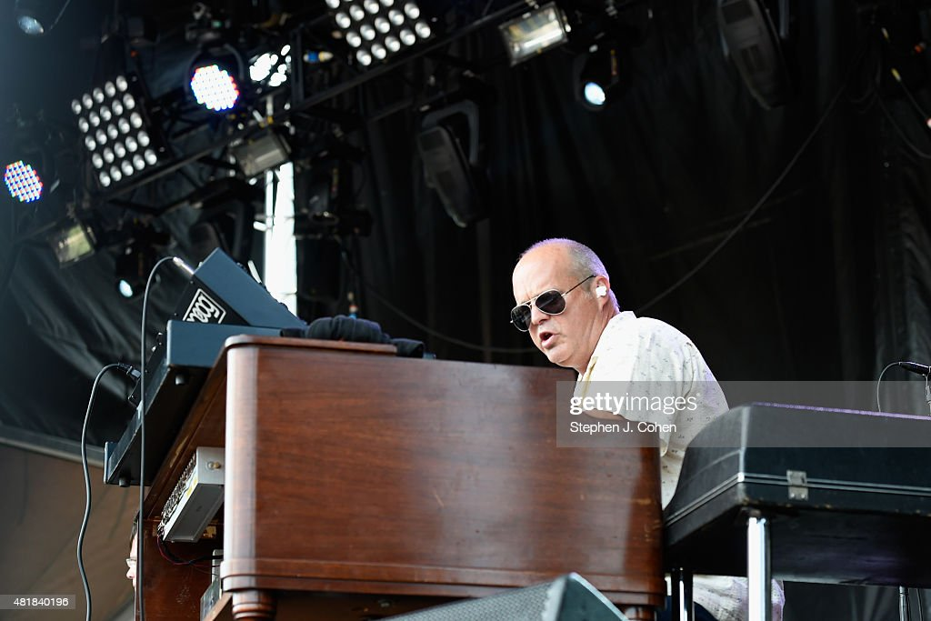 John Medeski of The Word performs during the 2015 Forecastle Music Festival at Waterfront Park on July 18 2015 in Louisville Kentucky