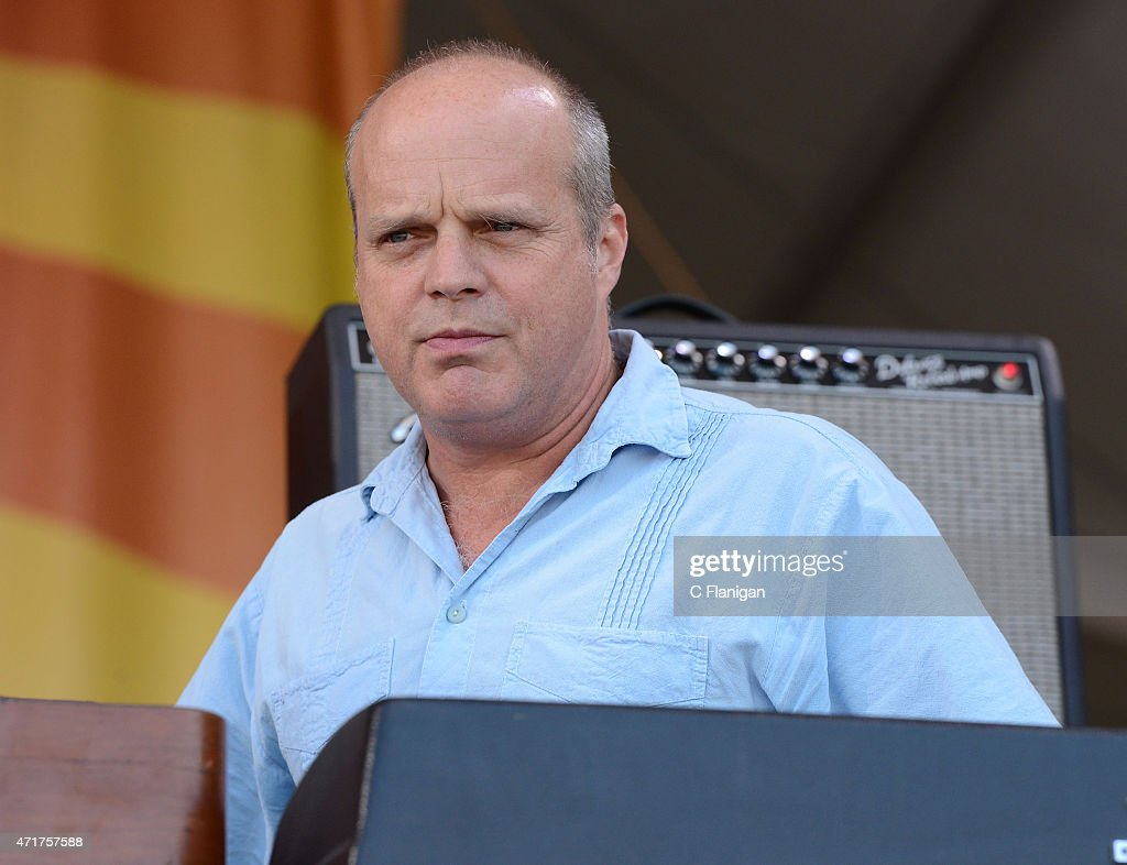 John Medeski of The Word performs during the 2015 New Orleans Jazz Heritage Festival at Fair Grounds Race Course on April 30 2015 in New Orleans...
