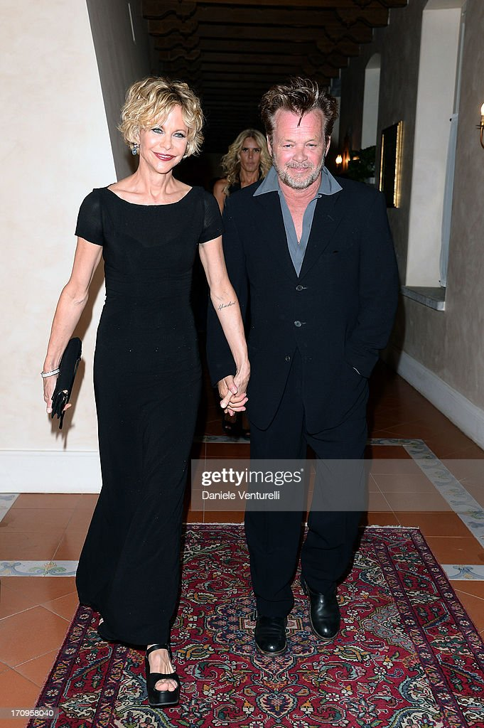 John Mellencamp and <a gi-track='captionPersonalityLinkClicked' href=/galleries/search?phrase=Meg+Ryan&family=editorial&specificpeople=203107 ng-click='$event.stopPropagation()'>Meg Ryan</a> attend Taormina Filmfest 2013 2013 at Teatro Antico on June 20, 2013 in Taormina, Italy.