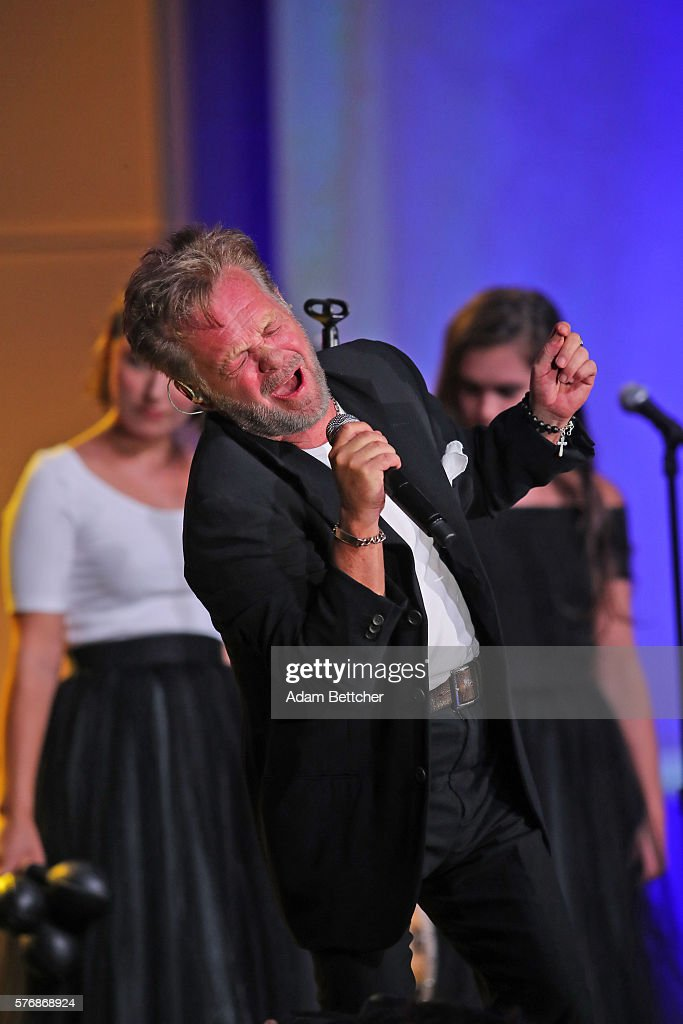 John Mellencamp performs at the 2016 Starkey Hearing Foundation 'So the World May Hear' awards gala at the St Paul RiverCentre on July 17 2016 in St...