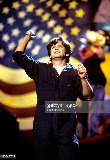 John Mellencamp performs on stage at Farm Aid 2001 A Concert for America Noblesville Indiana United States 29th September 2001
