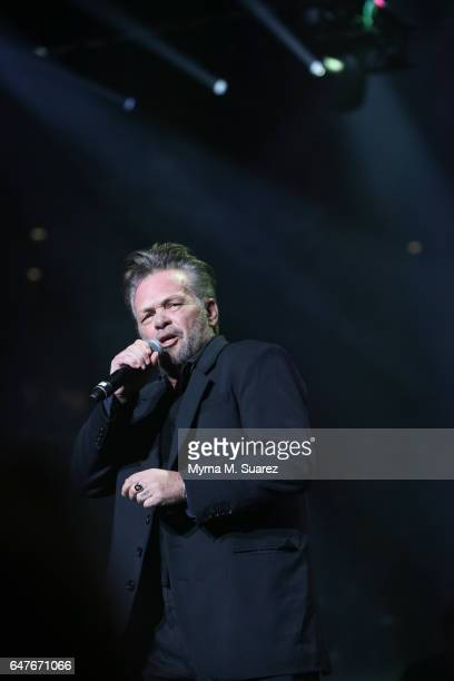 John Mellencamp performs with Billy Joel at Joel's 39th consecutive sold out show at Madison Square Garden on March 3 2017 in New York City
