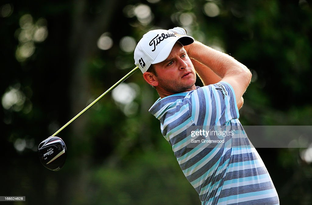 John Merrick of the USA plays a shot from the seventh tee during round two of THE PLAYERS Championship at THE PLAYERS Stadium course at TPC Sawgrass on May 10, 2013 in Ponte Vedra Beach, Florida.
