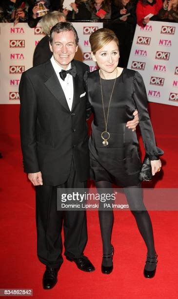 John Middleton and Charlotte Bellamy arrive for the 2008 National Television Awards at the Royal Albert Hall Kensington Gore SW7