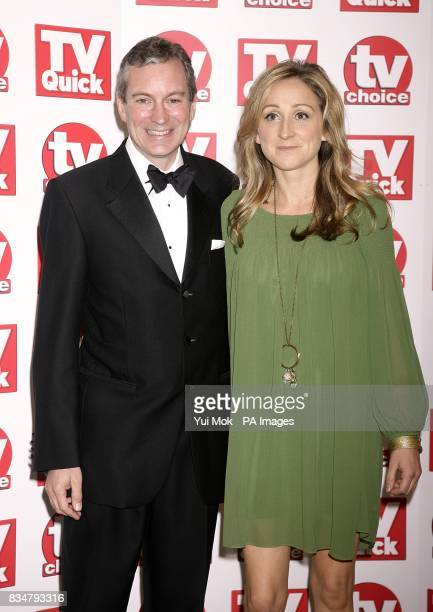 John Middleton and Charlotte Bellamy arrive for the TV Quick and TV Choice awards 2008 at The Dorchester Park Lane London