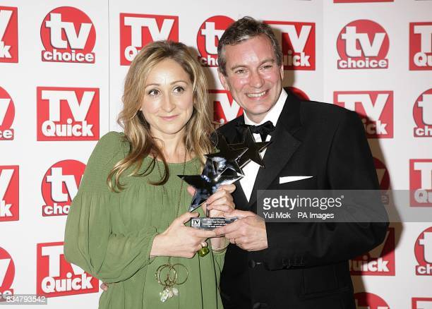 John Middleton and Charlotte Bellamy with the award for Best Soap Storyline at the TV Quick and TV Choice awards 2008 at The Dorchester Park Lane...