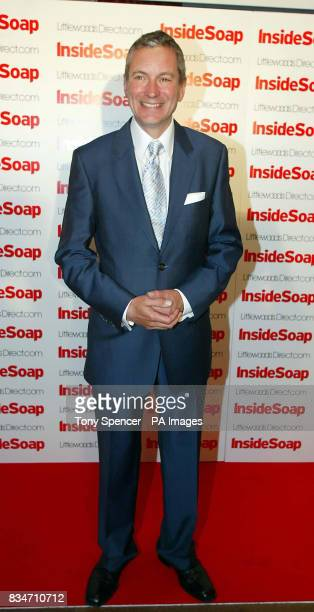 John Middleton arrives for the Inside Soap Nominations party at the Oyster Bar and Restaurant Great John Street Manchester