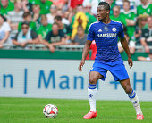 John Mikel Obi of Chelsea during the pre season friendly match between SV Werder Bremen and FC Chelsea at Weserstadion on August 3 2014 in Bremen...