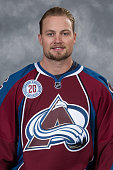 John Mitchell of the Colorado Avalanche poses for his official headshot for the 20152016 NHL season on September 17 2015 at the Pepsi Center in...