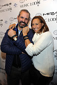 John Molner and designer Donna Karan attend the 'Under The Gun' Cast Party at The Music Lodge on January 24 2016 in Park City Utah