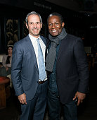 John Molner and John Douglas Thompson attend the 'Wolves' after party during 2016 Tribeca Film Festival at No 8 on April 15 2016 in New York City
