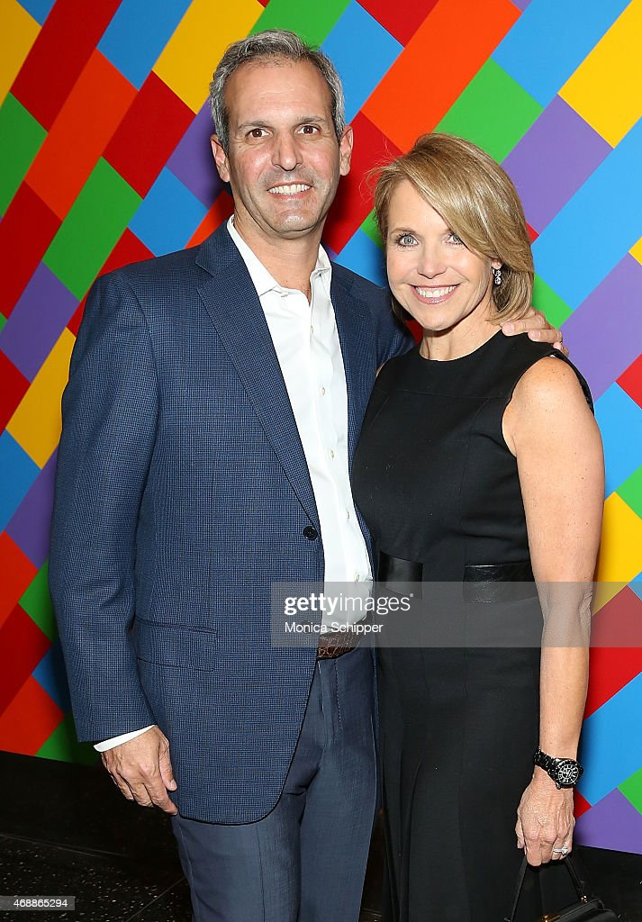 John Molner and journalist Katie Couric attend the Special Screening Of Relativity Studio's 'Desert Dancer' at Museum of Modern Art on April 7 2015...