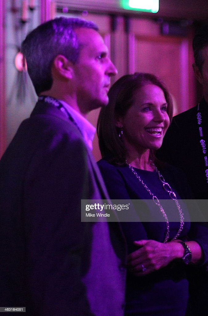 John Molner and Katie Couric attend An Artist at the Table: Dinner Program during the 2014 Sundance Film Festival at Stein Eriksen Lodge on January 16, 2014 in Park City, Utah.