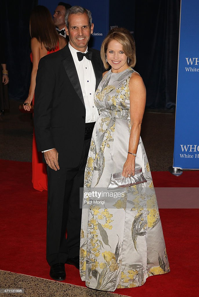 John Molner and Katie Couric attend the 101st Annual White House Correspondents' Association Dinner at the Washington Hilton on April 25 2015 in...