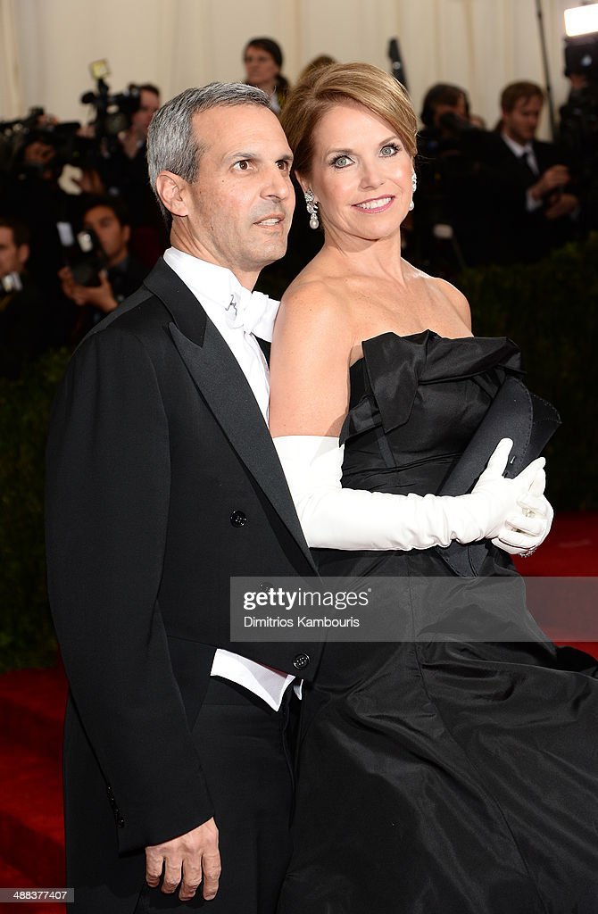 John Molner and Katie Couric attend the 'Charles James Beyond Fashion' Costume Institute Gala at the Metropolitan Museum of Art on May 5 2014 in New...