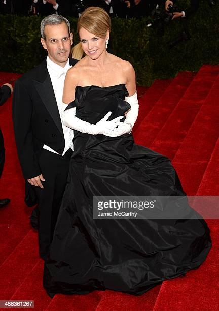 John Molner and Katie Couric attends the 'Charles James Beyond Fashion' Costume Institute Gala at the Metropolitan Museum of Art on May 5 2014 in New...