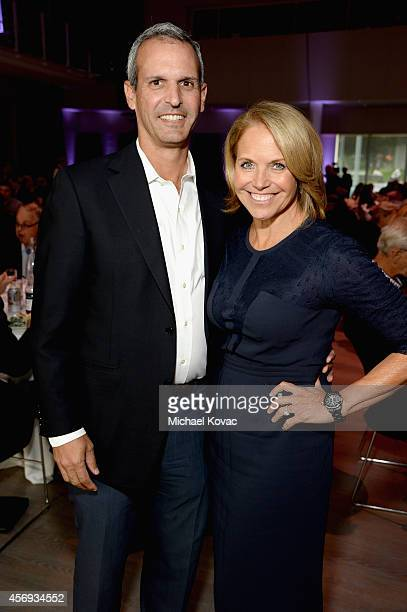 John Molner and Yahoo News Global Anchor Katie Couric attend the Vanity Fair New Establishment Summit at Yerba Buena Center for the Arts on October 9...