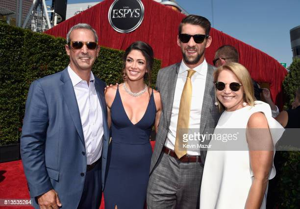 John Molner model Nicole Johnson Olympic swimmer Michael Phelps and Katie Couric attend The 2017 ESPYS at Microsoft Theater on July 12 2017 in Los...