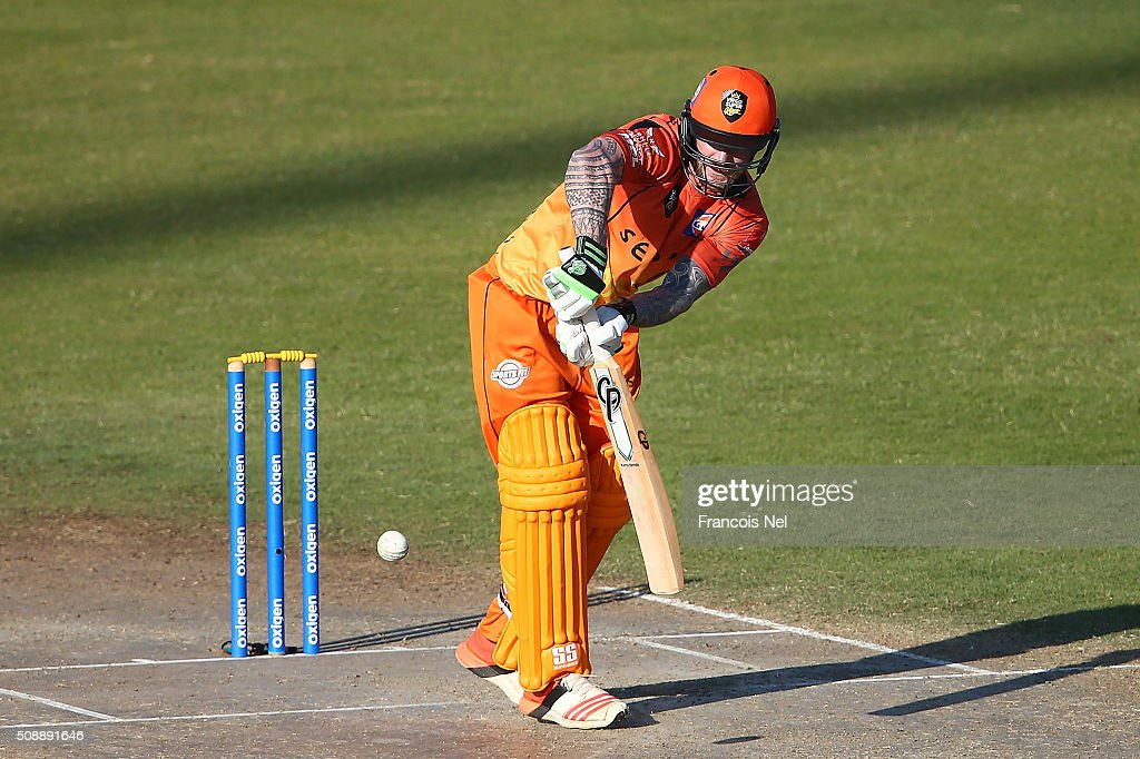 <a gi-track='captionPersonalityLinkClicked' href=/galleries/search?phrase=John+Mooney+-+Cricketspieler&family=editorial&specificpeople=14310914 ng-click='$event.stopPropagation()'>John Mooney</a> of Virgo bats during the Oxigen Masters Champions League match between Virgo Super Kings and Capricorn Commanders on February 7, 2016 in Sharjah, United Arab Emirates.
