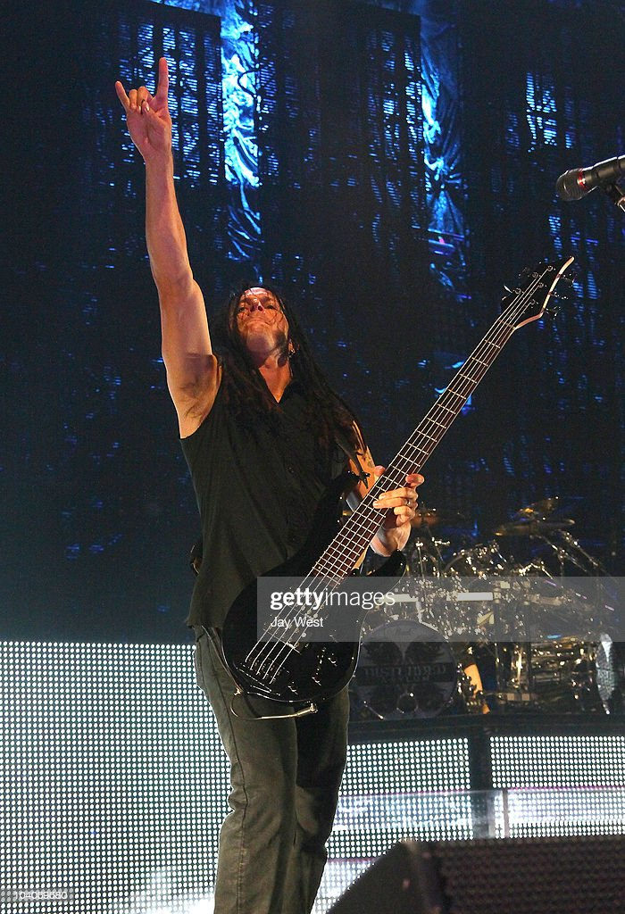 John Moyer of Disturbed performs at the Uproar Festival at The Cynthia Woods Mitchel Pavilion on September 12, 2010 in Houston, Texas.