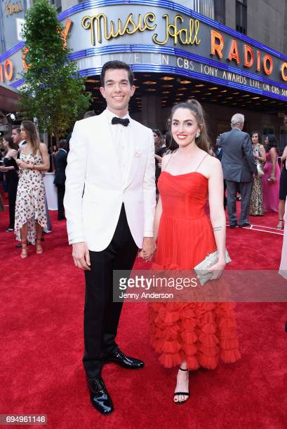 John Mulaney and Annamarie Tendler Mulaney attend the 71st Annual Tony Awards at Radio City Music Hall on June 11 2017 in New York City