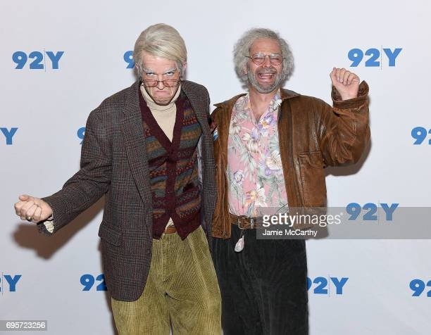 John Mulaney and Nick Kroll attend 92Y Presents Nick Kroll John Mulaney John Oliver 'Oh Hello On Broadway' at 92nd Street Y on June 13 2017 in New...
