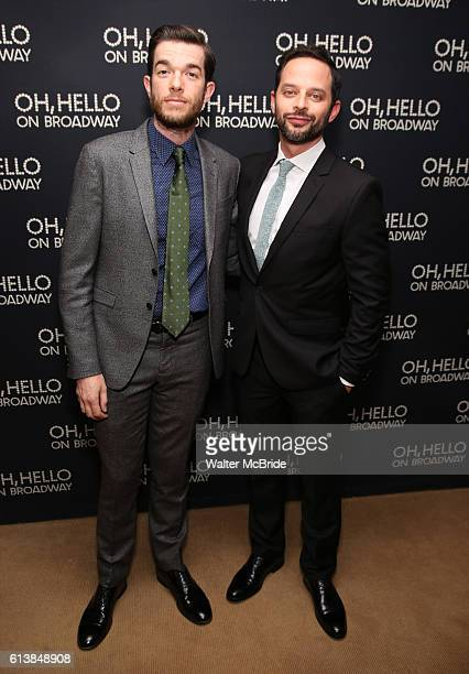John Mulaney and Nick Kroll attend the opening night performance after party press reception for 'Oh Hello On Broadway' at Brasserie 8 1/2 on October...
