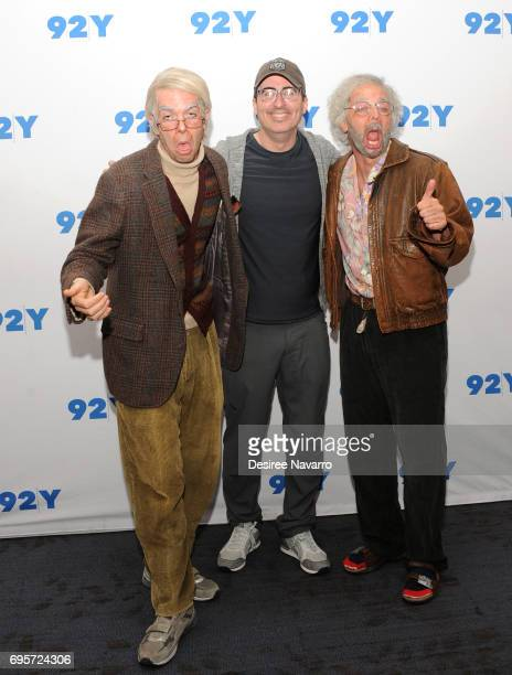 John Mulaney John Oliver and Nick Kroll attend 92Y Presents 'Oh Hello On Broadway' at 92nd Street Y on June 13 2017 in New York City