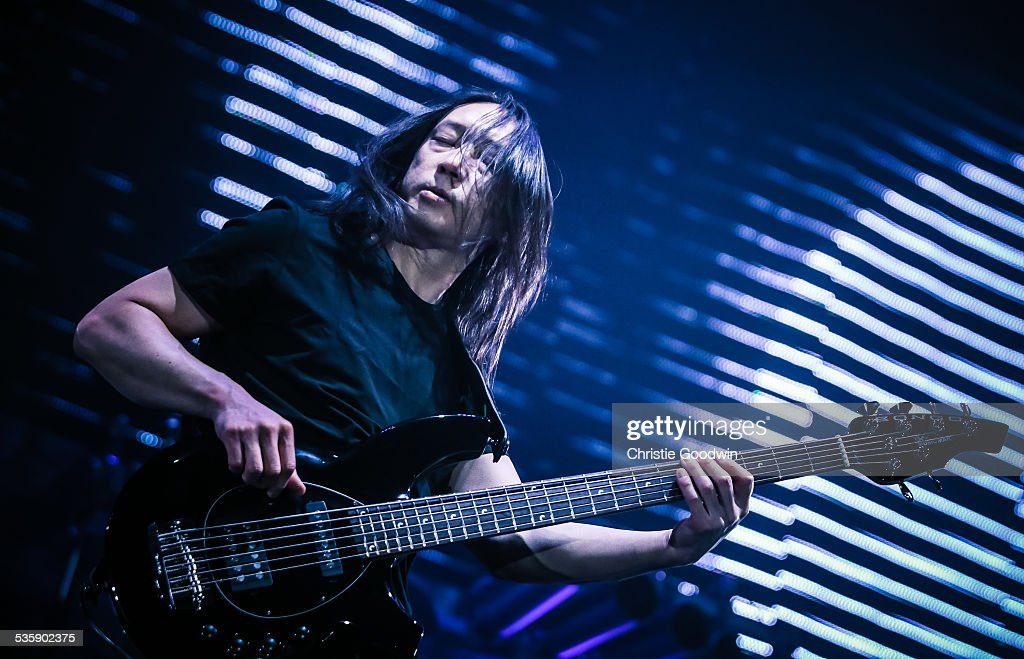 John Myung of Dream Theater performs at Wembley Arena on February 14, 2014 in London, England.