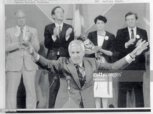 John Napier Turner 55 was elected 6/16 Liberal Party leader and Prime Ministerdesignate of Canada LR in the back are Eugene Whelan Jean Chrétien and...