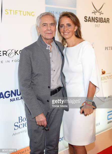 John Neumeier and Jonica Jahr attend the Charity Evening 'Das kleine Herz im Zentrum' at Curio Haus on June 22 2017 in Hamburg Germany