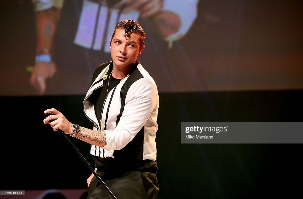 John Newman performing live at One For The Boys Fashion Ball hosted by Samuel L. Jackson, uniting men against cancer to kick start London Collections Men at The Roundhouse on June 12, 2015 in London, England.