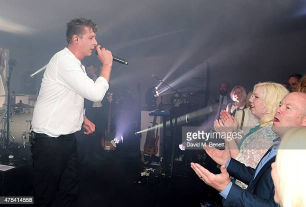 John Newman performs at day two of the Audi Polo Challenge at Coworth Park on May 31 2015 in London England