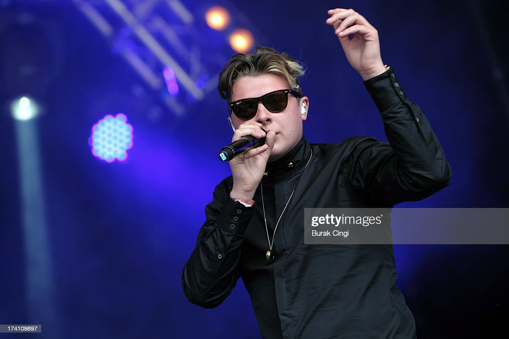 John Newman performs on stage on day 2 of Lovebox Festival 2013 at Victoria Park on July 20, 2013 in London, England.