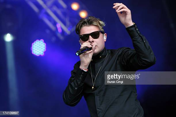 John Newman performs on stage on day 2 of Lovebox Festival 2013 at Victoria Park on July 20 2013 in London England