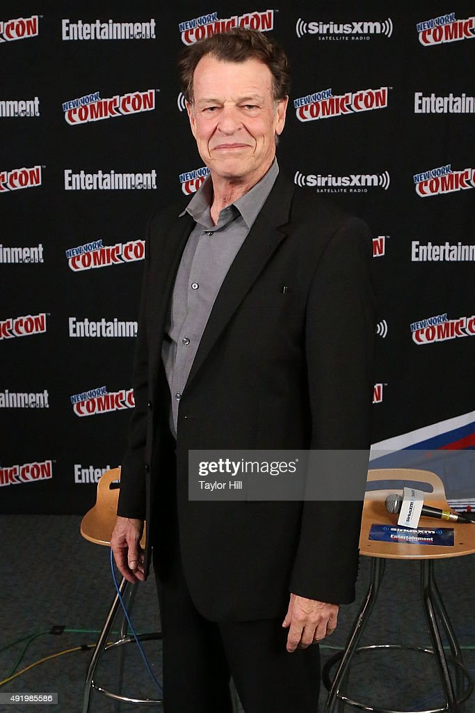 John Noble visits the SiriusXM Studios at New York Comic-Con at The Jacob K. Javits Convention Center on October 9, 2015 in New York City.
