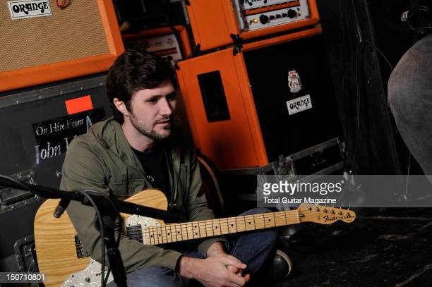 John Nolan of American rock band Taking Back Sunday during a shoot for Total Guitar Magazine August 29 2011