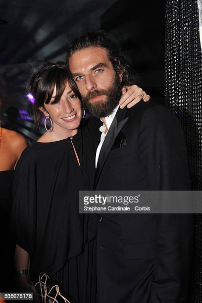 John Nollet and Albane Cleret attend a party at Jimmy'z during the 61st Cannes Film Festival